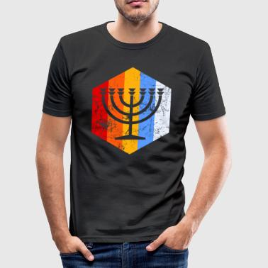 Menorah Menorah - Männer Slim Fit T-Shirt