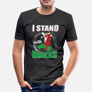 Patriot I stand with Wales - Men's Slim Fit T-Shirt