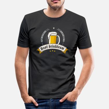 Picole Drinkteam Oktoberfest beer garden humpen biercraft - Men's Slim Fit T-Shirt