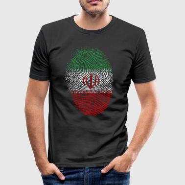 Iran Flagge - Männer Slim Fit T-Shirt