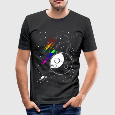 Gay Pride - Love to the Moon and Back - EN - slim fit T-shirt