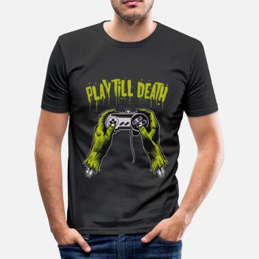 Controller Play until you die - Männer Slim Fit T-Shirt