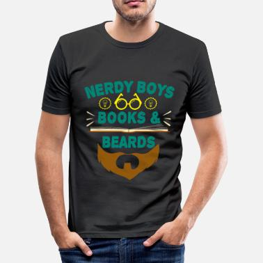 Dope Boys Nerdy Boys Books And Beards tee design for - Men's Slim Fit T-Shirt