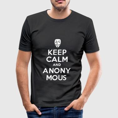 KEEP CALM and ANONY MOUS - Men's Slim Fit T-Shirt