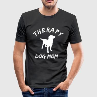 Therapiehund Begleithund Mama T-Shirt - Männer Slim Fit T-Shirt