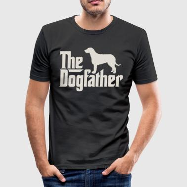 The Dogfather - Irish Wolfhound - Men's Slim Fit T-Shirt