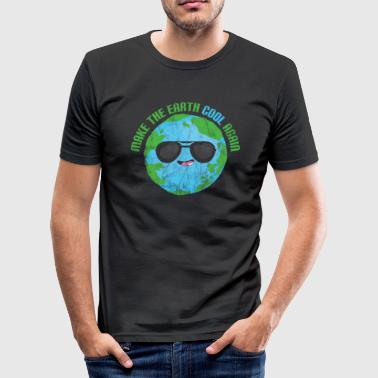 Klima gave, der siger klimaændringer Planet Earth CO2 - Herre Slim Fit T-Shirt