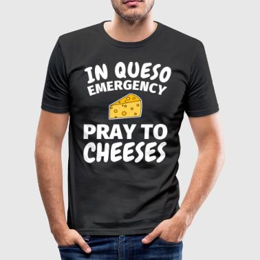 Cheese cheese lovers cheese saying gift - Men's Slim Fit T-Shirt