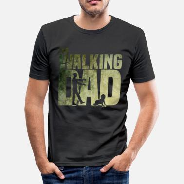 Walking The walking Dad - Zombie - Papa -Humor-Baby-Vater - Männer Slim Fit T-Shirt