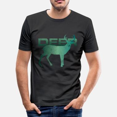 Red Deer Deer red deer sika deer wapiti gift - Men's Slim Fit T-Shirt