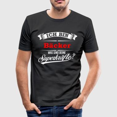 Bäcker Konditor Backwaren Bäckerei - Männer Slim Fit T-Shirt