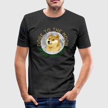 Doge DOGE TO THE MOON - Men's Slim Fit T-Shirt