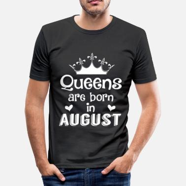 1. August August - Queen - Birthday - 1 - Männer Slim Fit T-Shirt