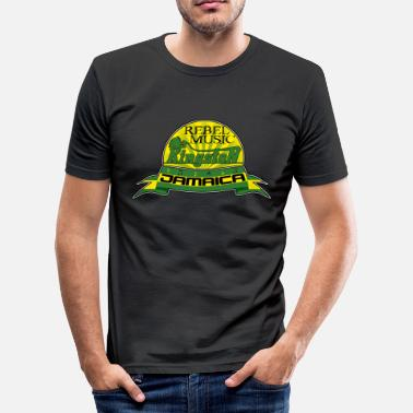 Music Hall rebel music kingston jamaica - Herre Slim Fit T-Shirt