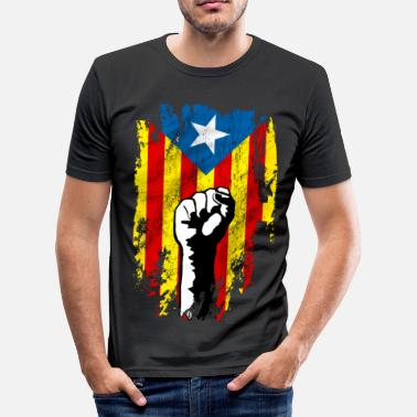 Catalogne catalunya power - T-shirt près du corps Homme