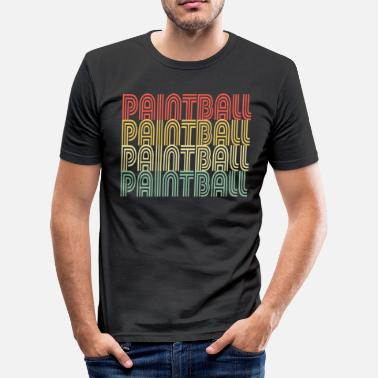 Paintball Paintball Distressed Design - slim fit T-shirt