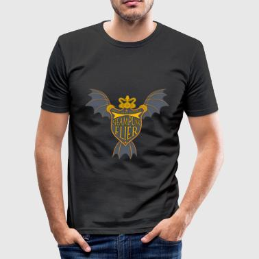 Steampunk Flier - Men's Slim Fit T-Shirt