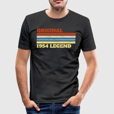 1954 54 Present Bday Verjaardag - slim fit T-shirt