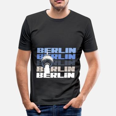 Television Tower Berlin capital state television tower - Men's Slim Fit T-Shirt
