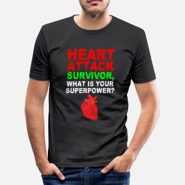 Artery HEART ATTACK - Men's Slim Fit T-Shirt