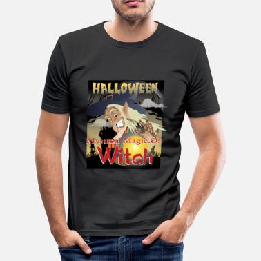 Mystic Witch Halloween - the Mystical Night of the Witches - Men's Slim Fit T-Shirt
