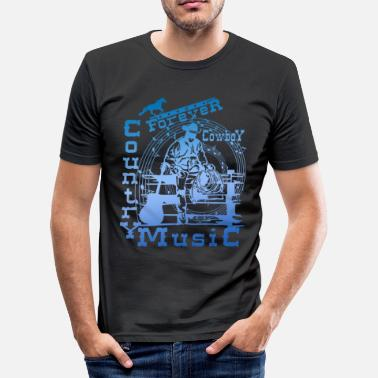 Country forever cowboy country music - T-shirt moulant Homme