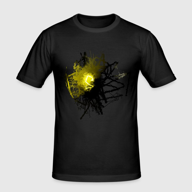 SENflux_yellow - Männer Slim Fit T-Shirt