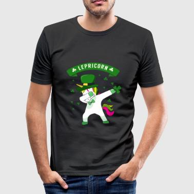 Lepricorn - St. patricks Day Unicorn dab pose - Camiseta ajustada hombre