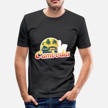 Siem Reap Cambodia Traveller Travelling Gift For Men And - Men's Slim Fit T-Shirt