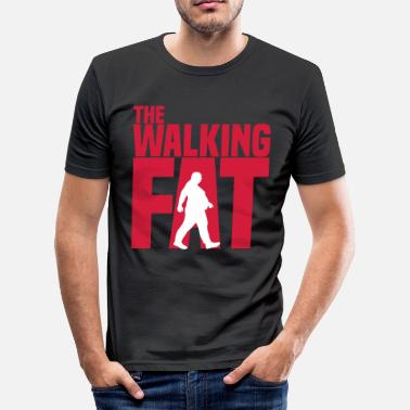 Adipositas The walking Fat - Zombie - Humor - Adipositas-Fett - slim fit T-shirt