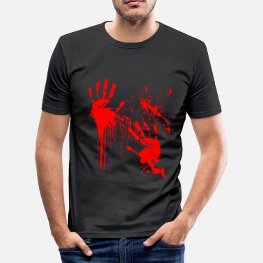 Horror Halloween Bloody läskigt present - Slim Fit T-shirt herr