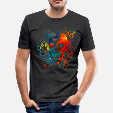 Cosmos Skull, Space Pirate, Galaxy, Cosmos, Universe - T-shirt près du corps Homme