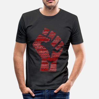 Bakunin anarchy word cloud - Men's Slim Fit T-Shirt