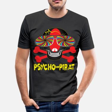 Pirathuvud Carnival Psycho Pirate - Slim Fit T-shirt herr