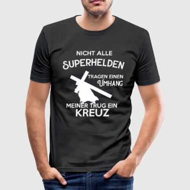 Jesus Christentum - Männer Slim Fit T-Shirt