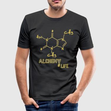 Alchemy of life - Caffeine Coffee Lover Barista - Men's Slim Fit T-Shirt
