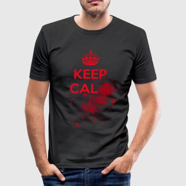 Blood Keep Calm - Maglietta aderente da uomo