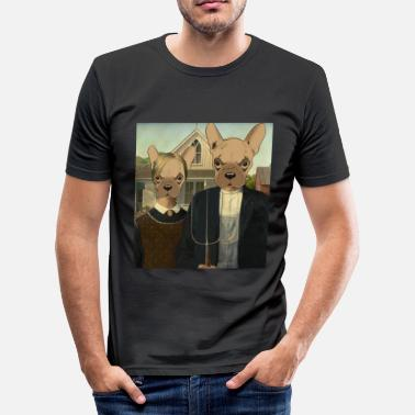 Fransk Bulldogg The Frenchies American - Slim Fit T-shirt herr