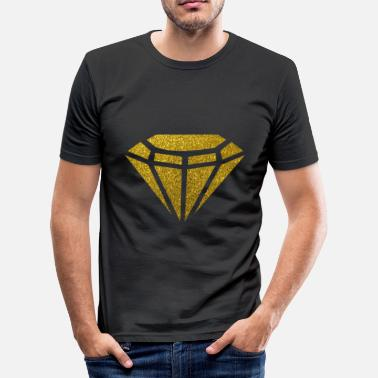 Bling Golden Diamond - Golden Diamond Glitter Gold - T-shirt slim fit herr