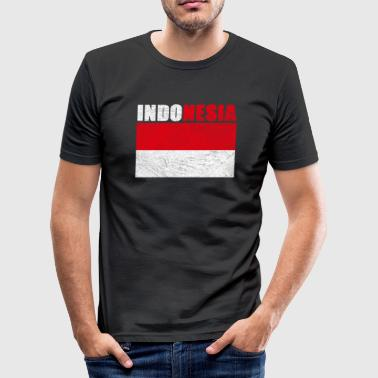 Statsmotto Indonesien - Herre Slim Fit T-Shirt