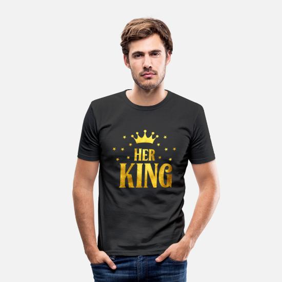 King Queen T-shirts - Hans kung - T-shirt slim fit herr svart
