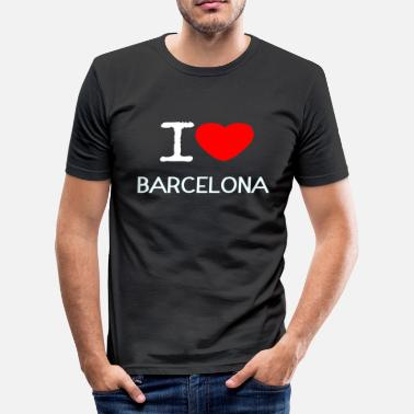 I Love Barcelona I LOVE BARCELONA - Herre Slim Fit T-Shirt