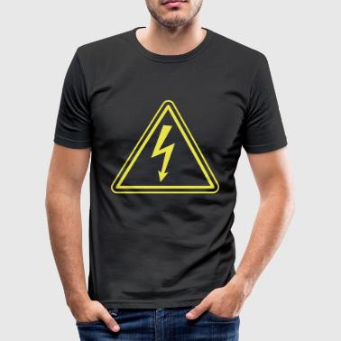 Electrician ELECTRICIAN UNDER HIGH VOLTAGE - slim fit T-shirt