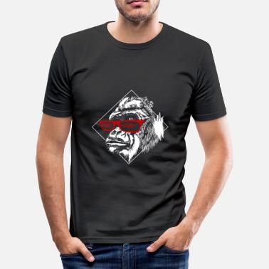 Menneskeape Gorilla Cool ape - Slim Fit T-skjorte for menn