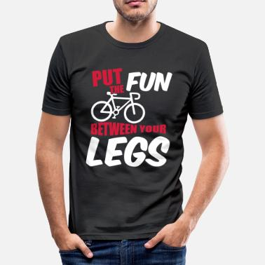 Fun Put the fun between your legs - T-shirt moulant Homme