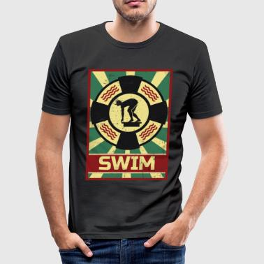 Swimming propaganda - Men's Slim Fit T-Shirt