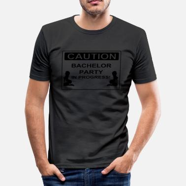 Xxx Sexy Caution Bachelor Party - T-shirt près du corps Homme