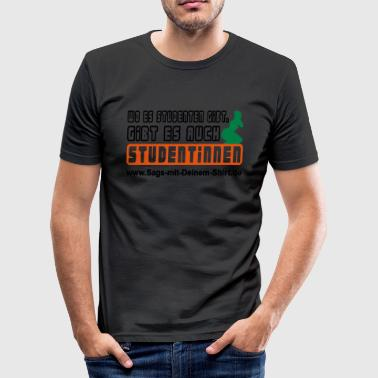 Studentinnen - Promotion - Männer Slim Fit T-Shirt