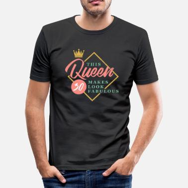30th Fabulous 30 years 30th birthday - Men's Slim Fit T-Shirt