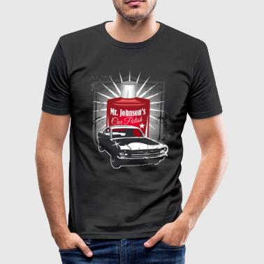 Mr. Johnson´s Car Polish - Männer Slim Fit T-Shirt